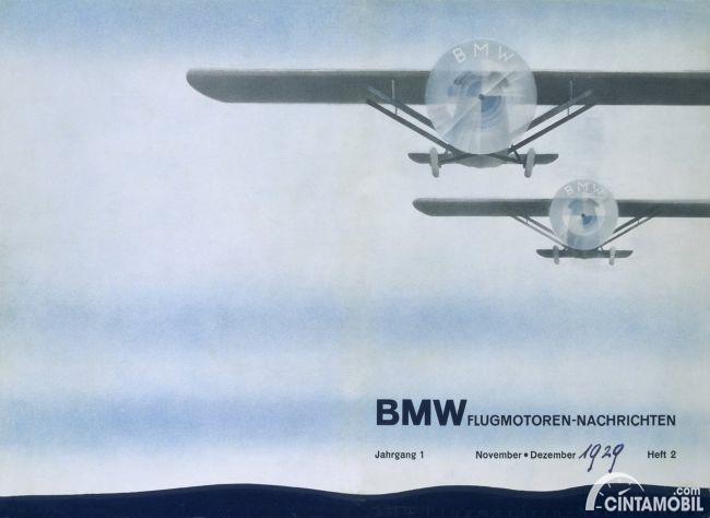 iklan pertama BMW yang menunjukkan baling-baling