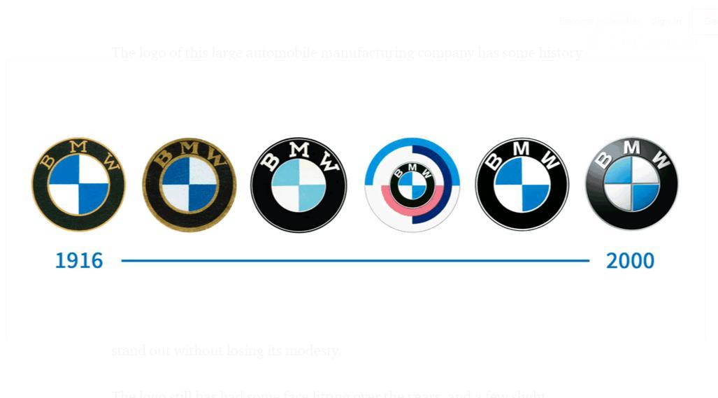 perubahan lambang BMW dari masa ke masa