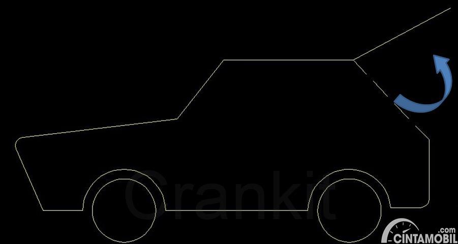 desain mobil hatchback denga ilustrasi