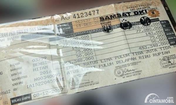 STNK dan pajak mobil mewah
