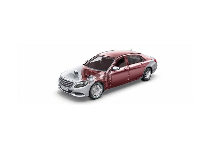 Gambar menunjukkan Mercedes-Benz S600 Guard