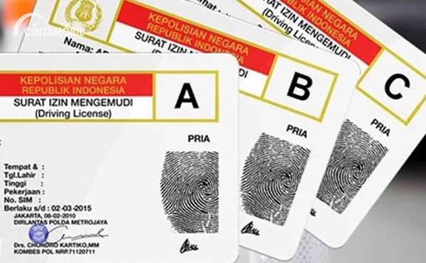 contoh SIM A, SIM B, dan SIM C