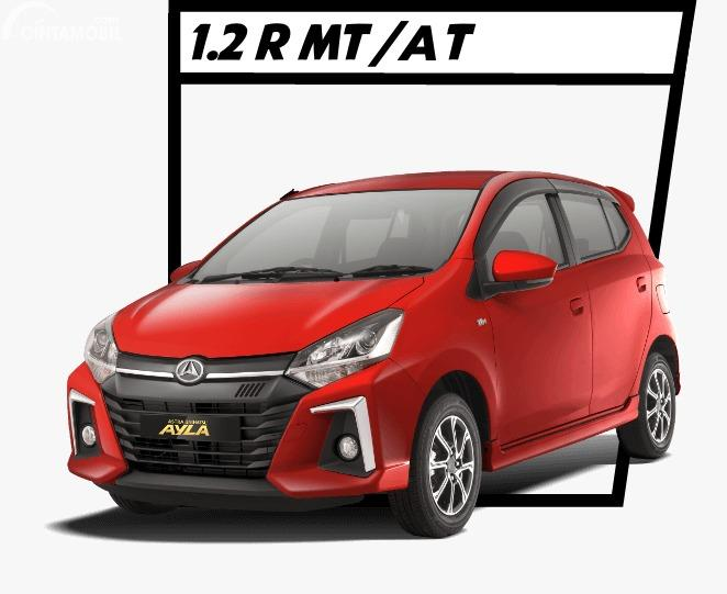 Gambar menunjukkan Daihatsu Ayla 1.2 R 2020