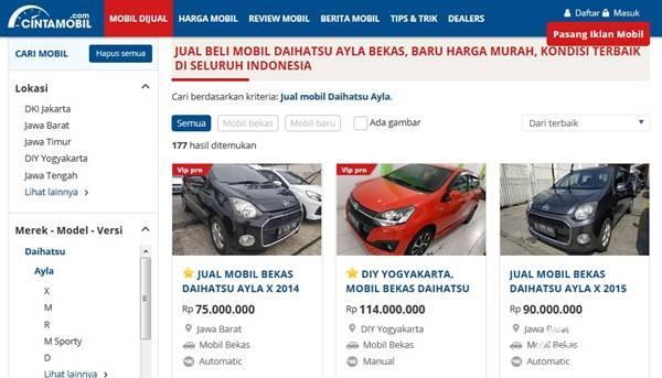 listing mobil di Cintamobil.com