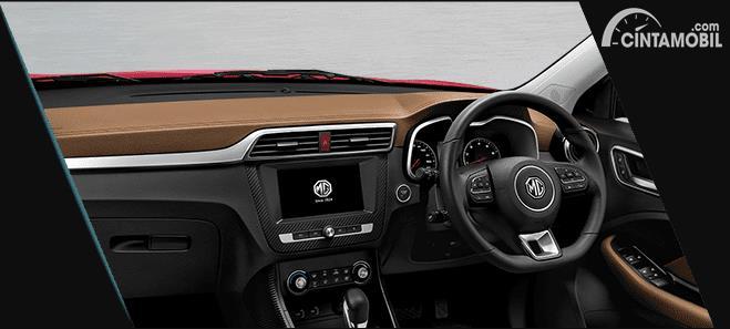 interior MG ZS 2020 berwarna hitam