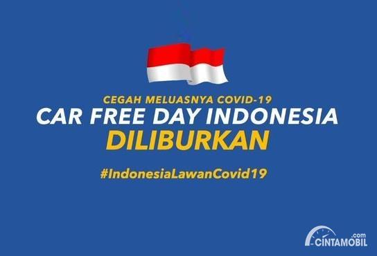 Catat! Car Free Day Jakarta Diliburkan hingga 5 April 2020