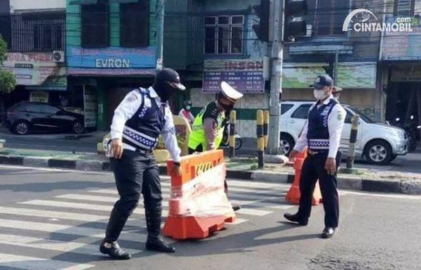 penutupan jalan di Jakarta