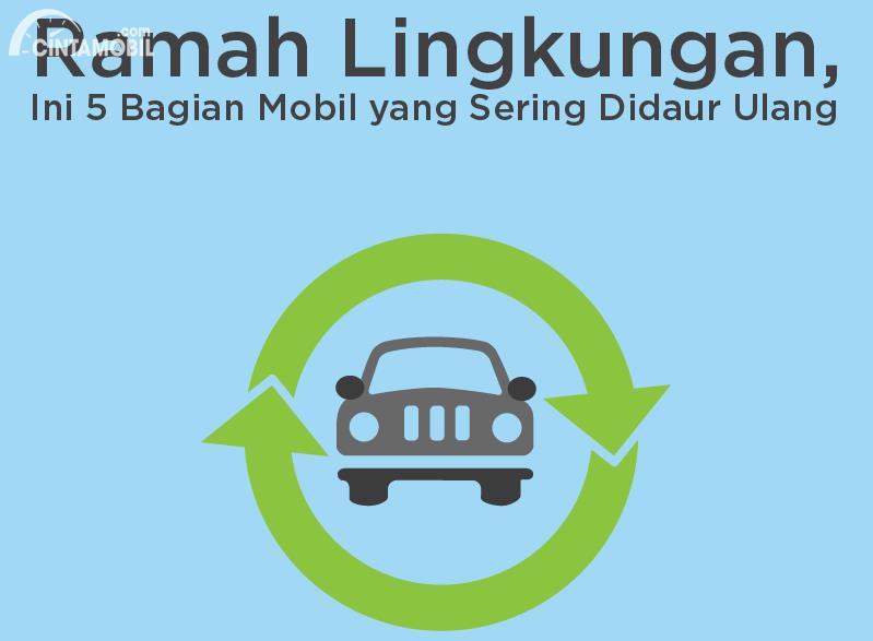 [INFOGRAFIK] Ramah Lingkungan, Ini 5 Bagian Mobil yang Sering Didaur Ulang
