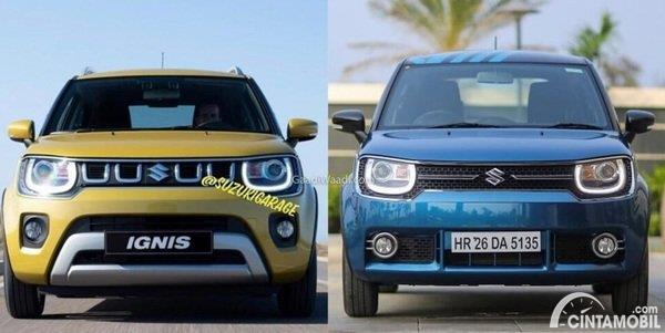 Perbandingan Suzuki Ignis facelift dengan pre-facelift