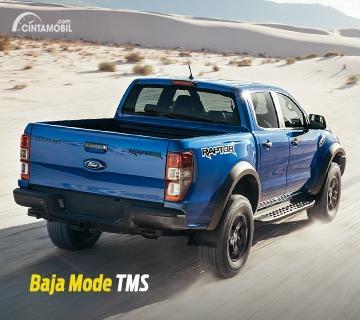 Gambar menunjukkan tampilan belakang Ford Raptor 2020