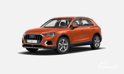 Gambar menunjukkan tampilan depan All New Audi Q3 2020