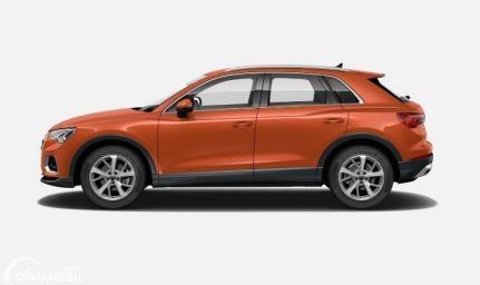 Gambar menunjukkan tampilan samping All New Audi Q3 2020