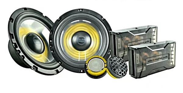 Speaker split 2-way dengan crossover pasif