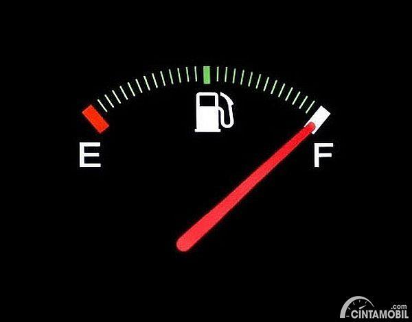 Gambar menunjukan Indikator bensin