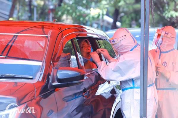 Pertamina Sediakan Drive Thru Swab Test Covid-19