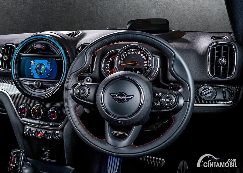 setir MINI Countryman Blackheath Edition 2020 berwarna hitam
