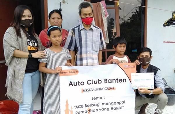 Gandeng ACT, Auto Club Banten Berbagi Sembako ke Masyarakat yang Membutuhkan