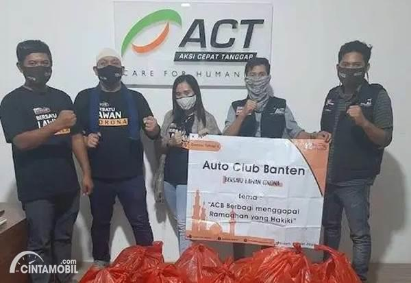 Donasi Auto Club Banten bersama ACT