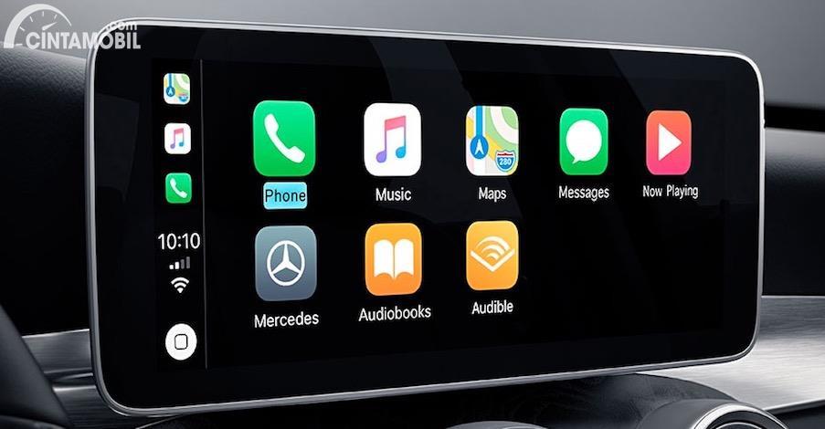 Sistem entertainment yang dipakai di Mercedes-Benz C200 Cabriolet
