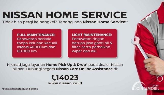 Gambar menunjukan program Nissan care