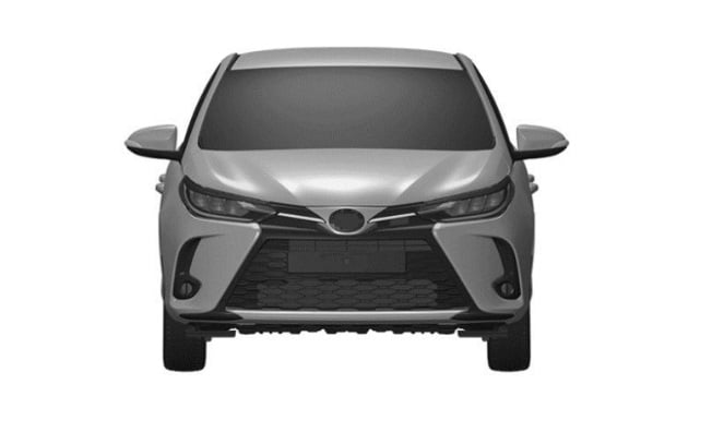 Fascia depan Toyota Yaris facelift di Thailand