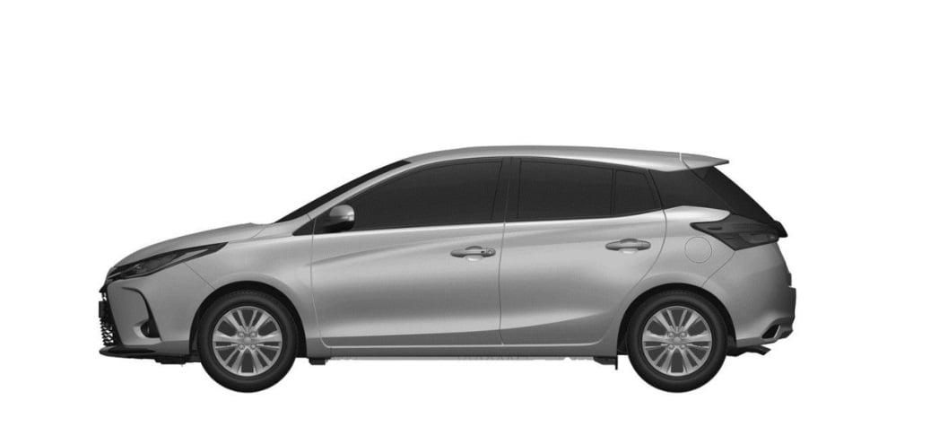Sisi samping rendering Toyota Yaris facelift Thailand
