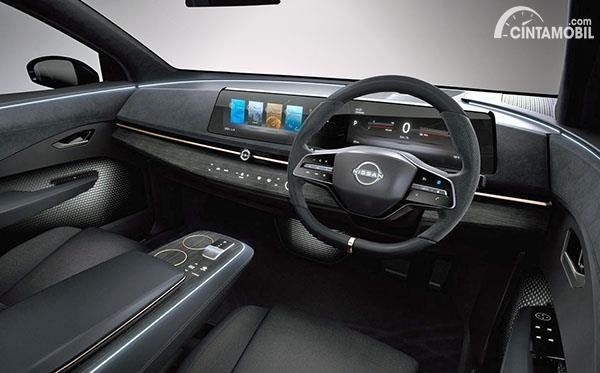 Desain interior mobil konsep Nissan Ariya