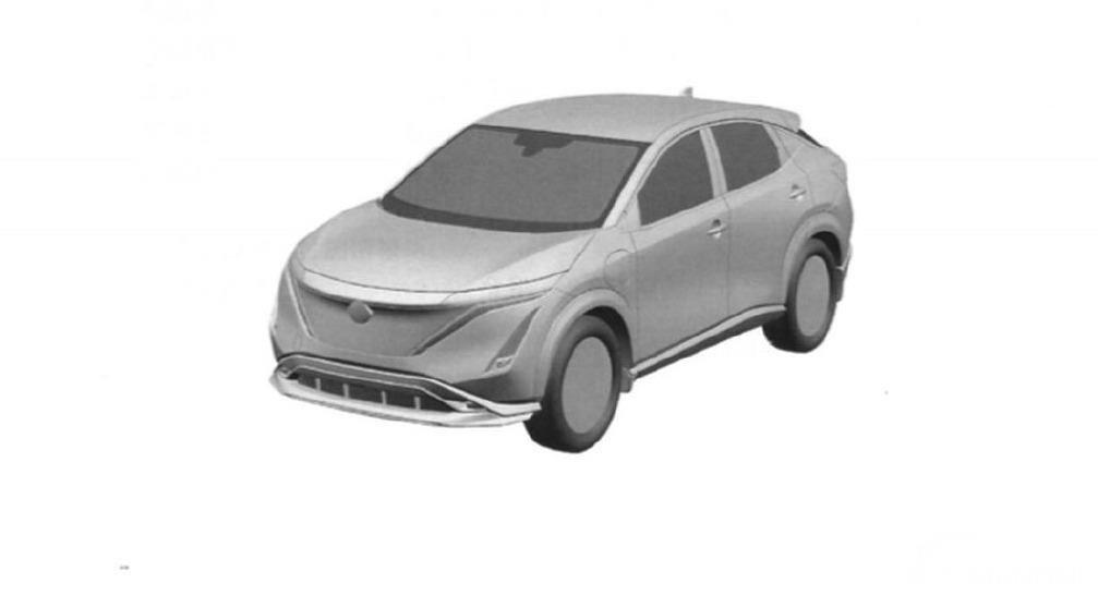 Desain bagian depan samping Nissan Ariya