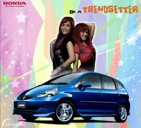 Gambar girl band RATU jadi brand ambassador Honda Jazz