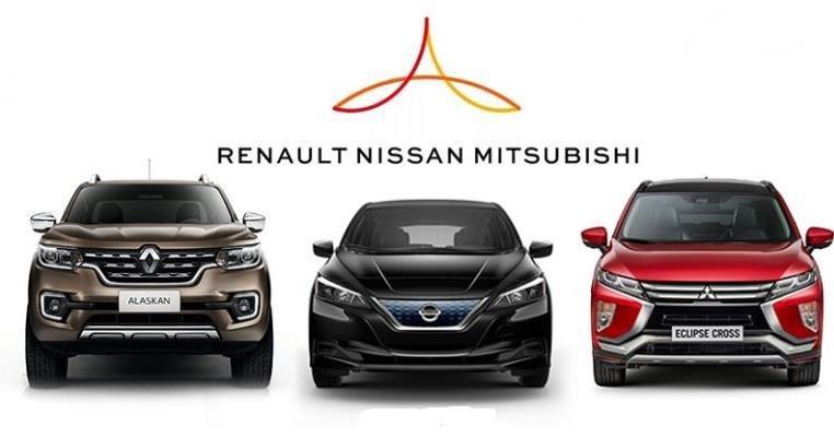 Gambar menunjukan Aliansi Renault-Nissan-Mitsubishi