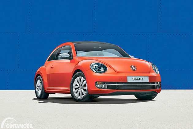 Gambar menunjukkan sebuah mobil VW Beetle