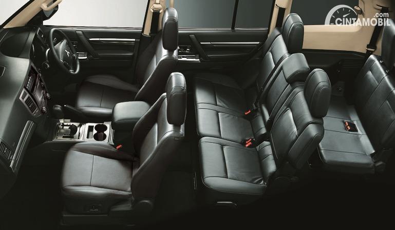 Gambar layout kursi Mitsubishi Pajero Final Edition 2020
