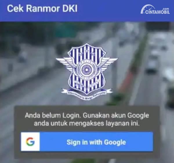 Aplikasi Cek Ranmor DKI Jakarta