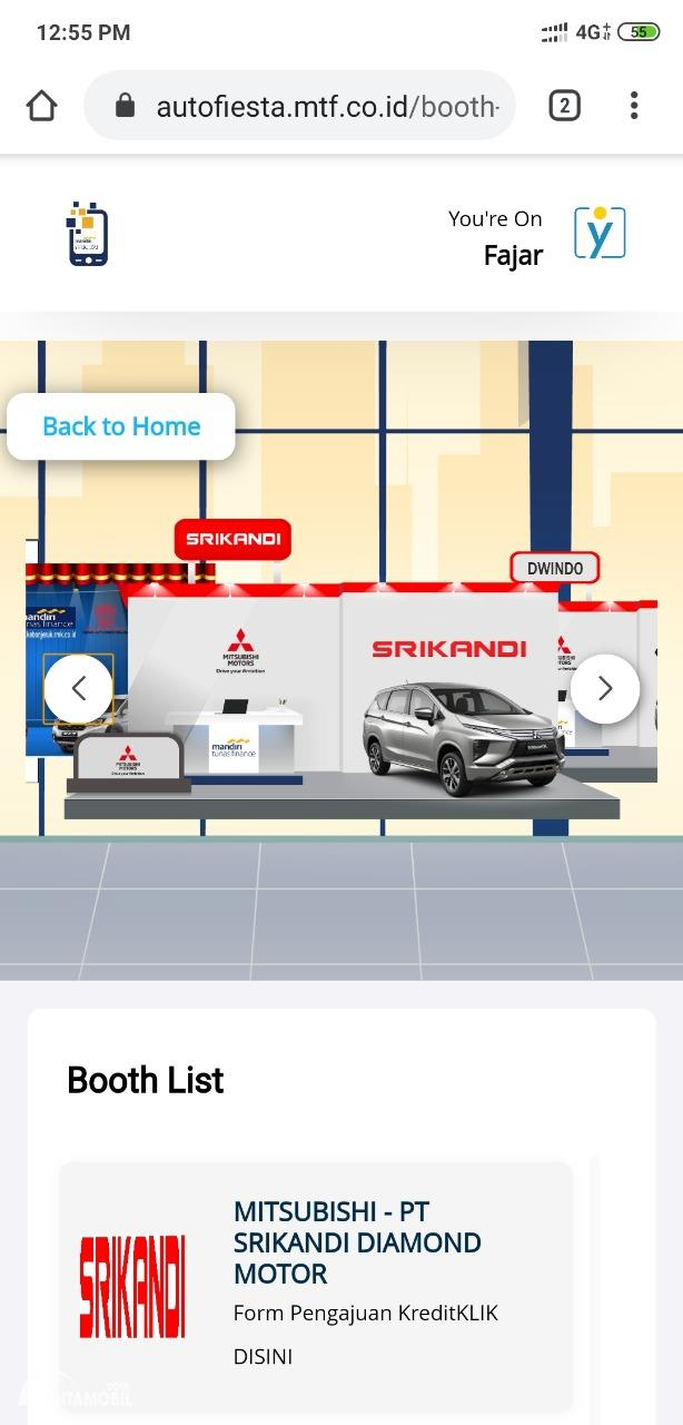Gambar Virtual Dealer Mitsubishi SRIKANDI