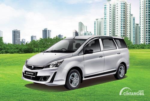 Gambar menunjukkan sebuah produk dari Proton di pasar otomotif Indonesia