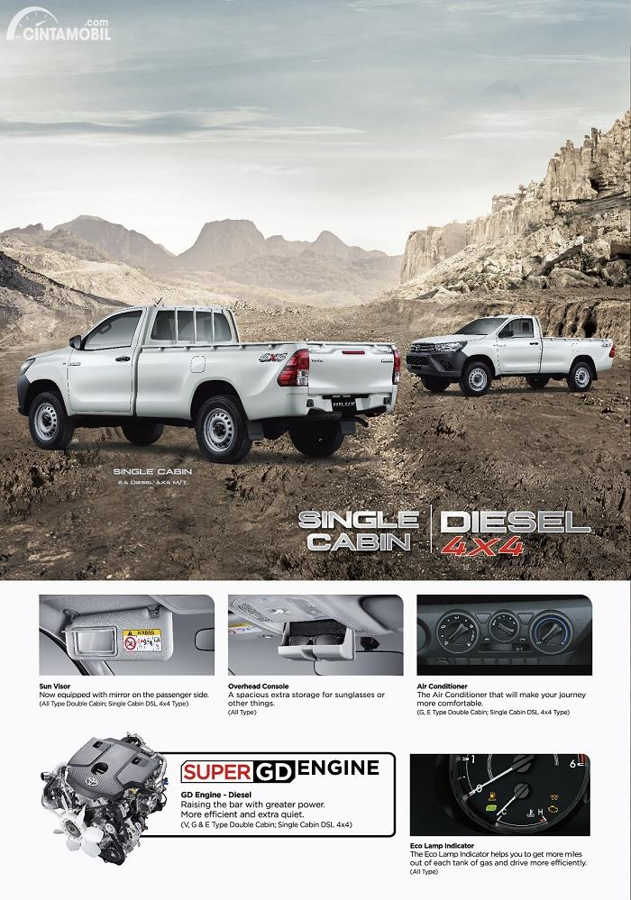 Gambar Toyota New Hilux Single Cabin Diesel