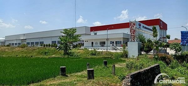 Foto menunjukkan Pabrik Esemka Boyolali dari kejauhan