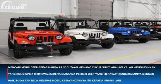 Pilihan Mobil Jeep Bekas Harga Rp 50 Jutaan