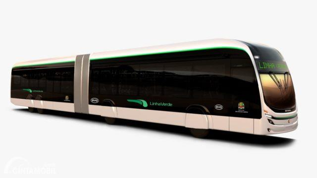 Gambar menunjukan Bis listrik
