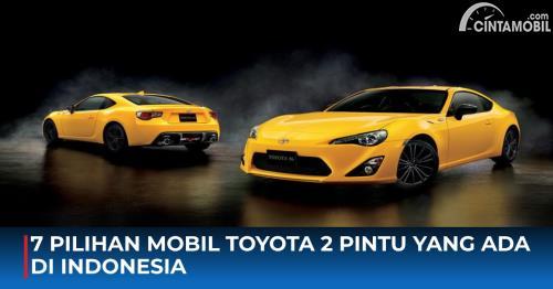 7 Pilihan Mobil Toyota 2 Pintu Yang Ada Di Indonesia