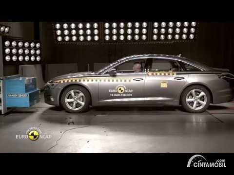 Gambar All New Audi A6 dites tabrak di EURO NCAP