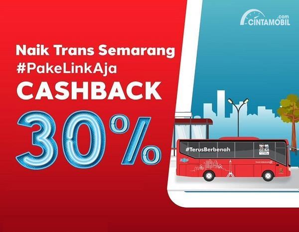 Naik Trans Semarang Cashback 30% Hingga Akhir Tahun