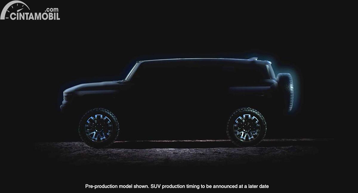 Teaser SUV listrik GMC Hummer EV
