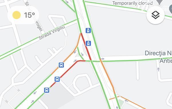 Google Maps traffic indicator