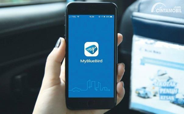 aplikasi My Bluebird yang ada pada smartphone