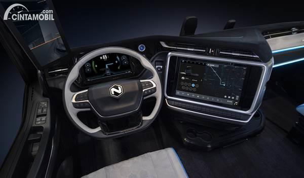 Nikola Tre electric truck interior