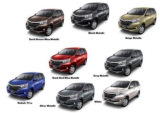 Pilihan Warna Mobil Avanza Paling Keren