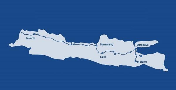 Gambar menunjukkan Peta Tol Trans Jawa