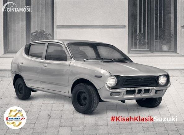 Suzuki Fronte Suzuki Indonesia berwarna hitam putih