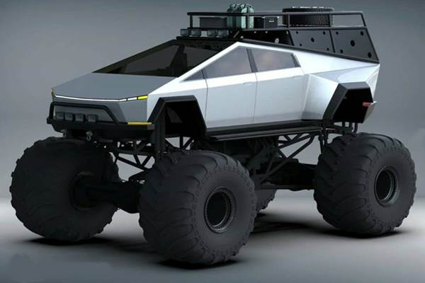 Ketika Tesla Cybertruck Dijadikan Monster Truck